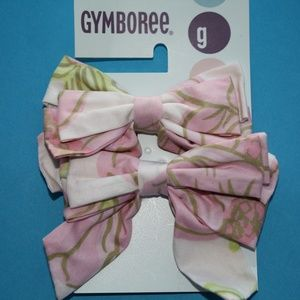Petit Four Bows Pink Floral NWT